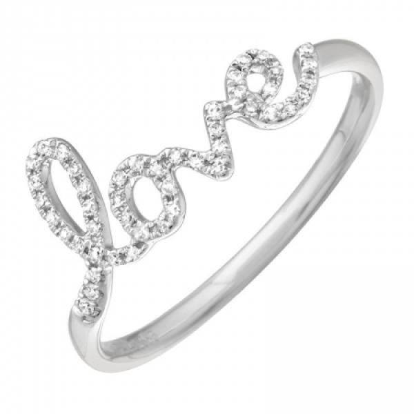 14k Diamond love ring