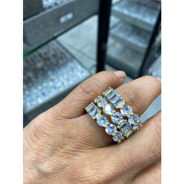Sterling Silver Band CZ Ring
