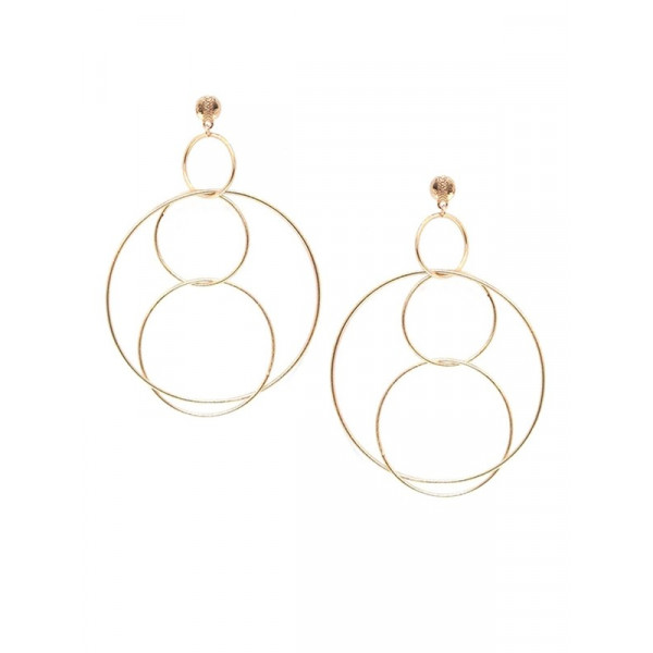 Gold Plated Circle Link Earrings
