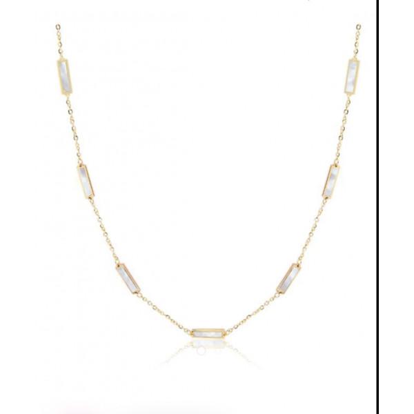 14K Color Bar Necklace
