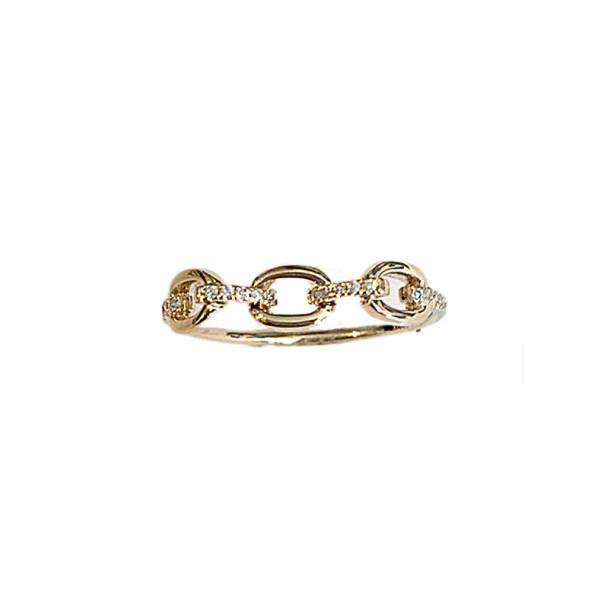 14k Diamond Chain Ring