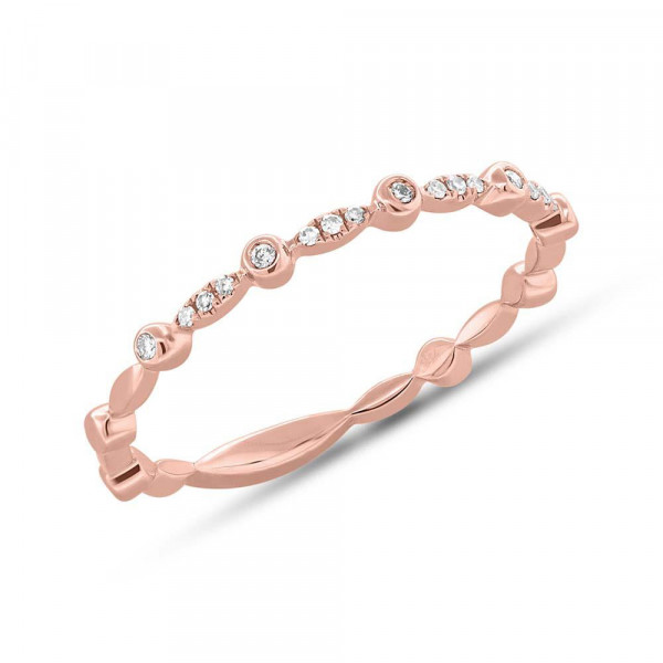 14k Diamond Filigree Band Ring