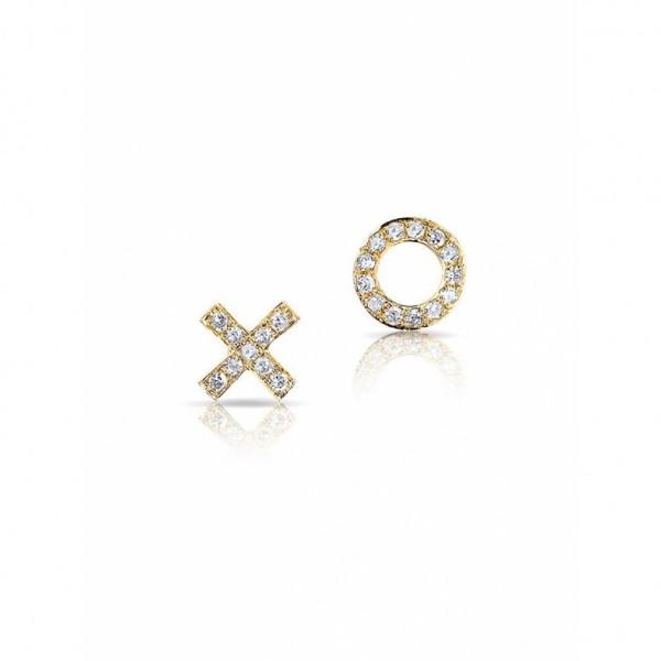 X & O Diamond Stud Earrings