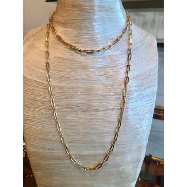 36 inch Yellow Gold Link Necklace