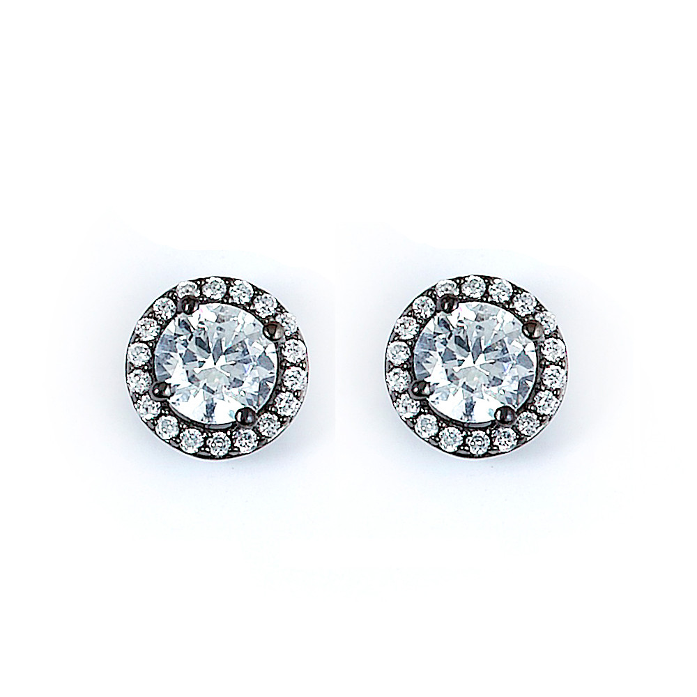 cushion halo cz stud mm in cut gold white earrings diamond references l