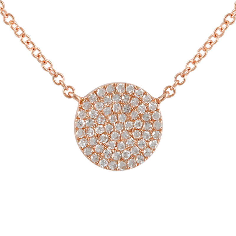 initial necklace main disc product material