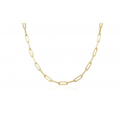 14k Yellow Gold 16 inch  Paperclip Link Necklace
