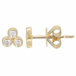 14k Yellow Gold Diamond Single Earring