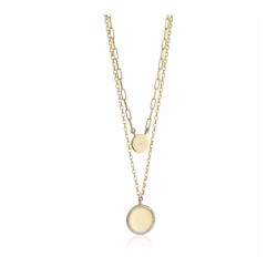 18k Gold Plated Double Layered Cz Necklace