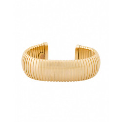 18k Gold Plated Brass Flexible Cuff  Bracelet