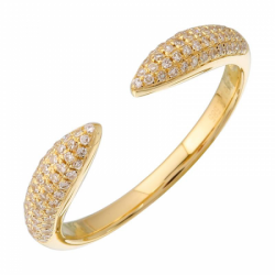 14k Yellow Gold Diamond Claw Ring