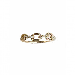 14k Diamond Chain Ring