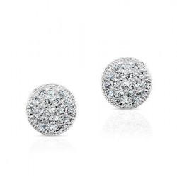 14k Mini Pave Diamond Pave Stud Earrings