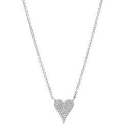 14k Mini Diamond Pave Heart Necklace
