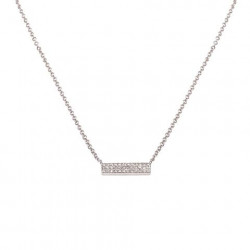 14k Diamond Mini Pave Bar Necklace