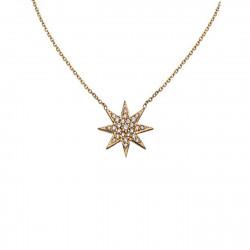 14k Yg Diamond Starburst Necklace