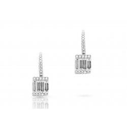 14k White Gold DIamond Baguette Earrings