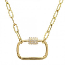 14k Yellow Gold Diamond Link  Necklace