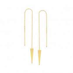 14k Yellow  Gold Threaders Earrings
