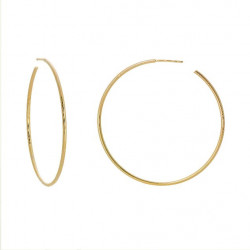 14k Solid Yellow Gold Hoops
