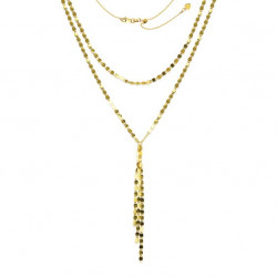 14k Yellow Gold Double Valentino Necklace