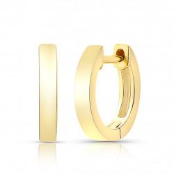 14k Solid Gold Huggie