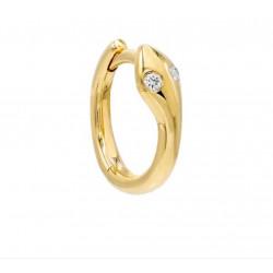 14k Yellow Gold Snake Huggie w Diamond