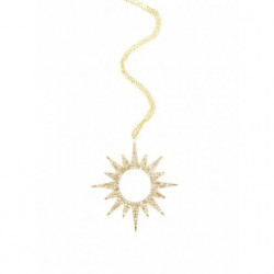 14k Yellow Gold Pave Diamond Starburst Necklace