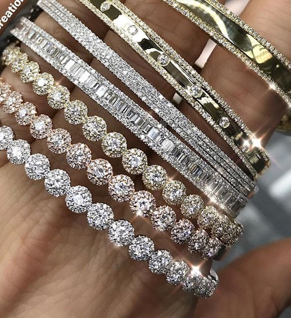 product bangle american women for bracelet bangles kada openable diamond buy flower online baguette gold the jewelbox plated