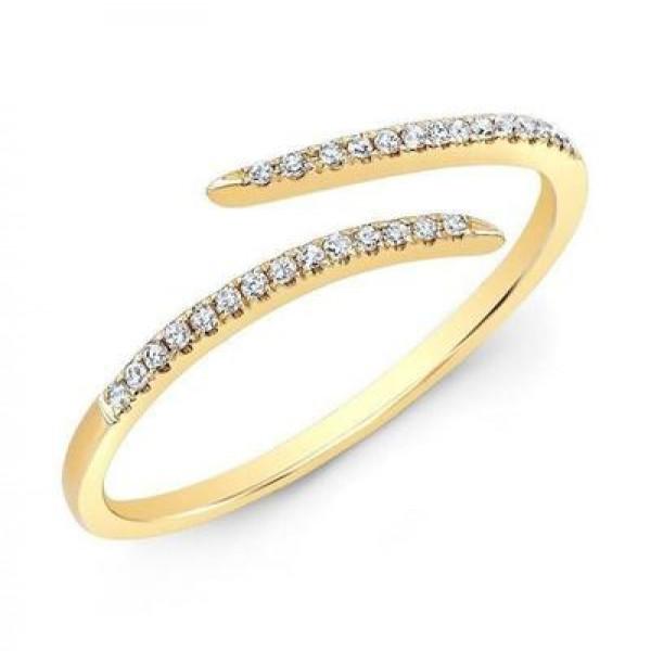 14k Yellow Gold Diamond Wrap Ring