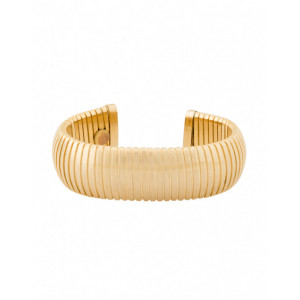 18k Gold Plated Brass Flexible Cuff  Bracelet