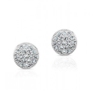 14k Mini Pave Diamond Pave Stud Earrings