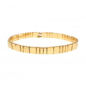 24k Yellow Gold Plated Beaded Bracelet