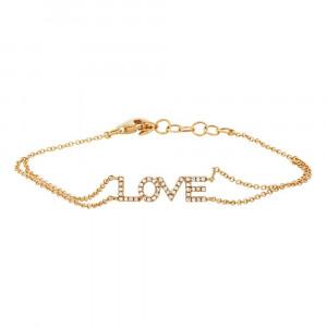 14K Yellow Gold Diamond 'LOVE' Bracelet.