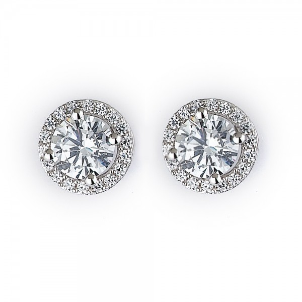 Diamond Stud Earrings - Free Gift