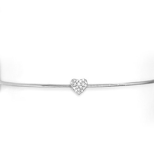 Heart Bangle Bracelet for Valentines Day